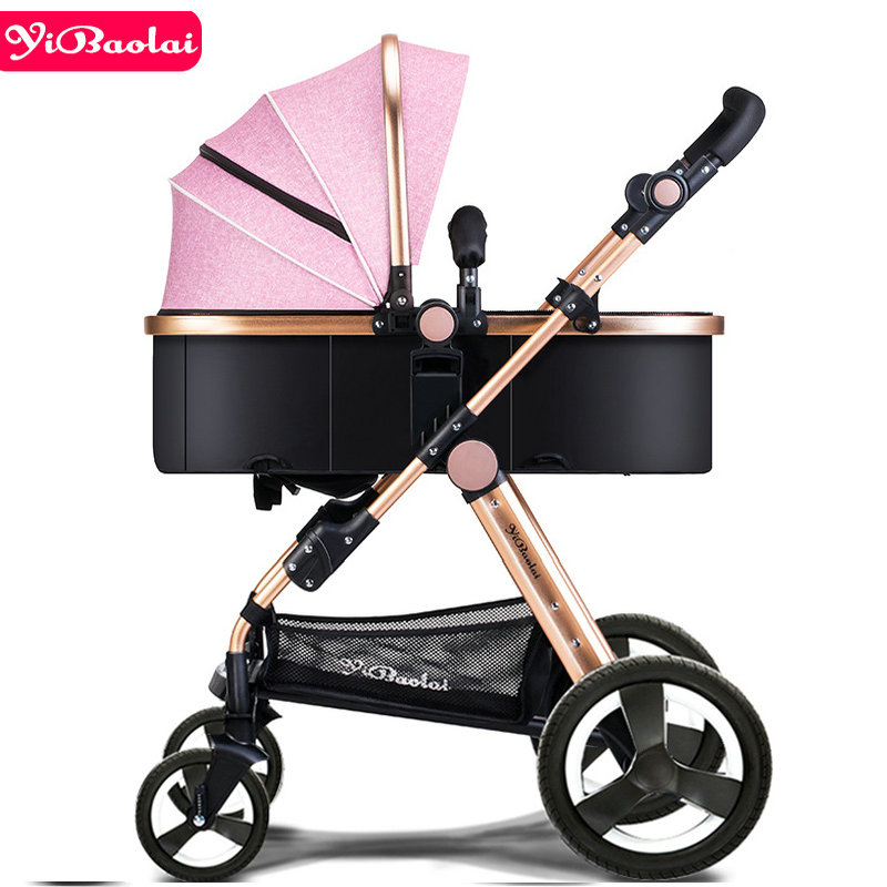 купить YIBAOLAI Baby stroller 2 in 1 stroller lying or damping folding light weight Two-sided children's four seasons of Baby cart по цене 6968.69 рублей