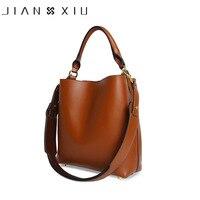 JIANXIU Brand Genuine Leather Bag Luxury Handbags Women Bags Designer Handbag Napa Leather Bucket Newest Shoulder