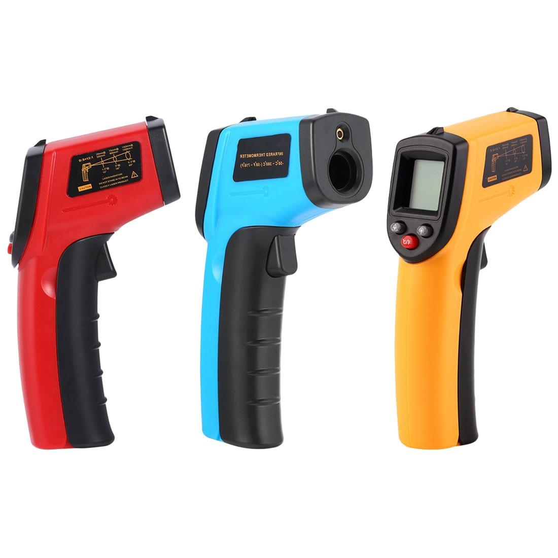 GM320 Laser A CRISTALLI LIQUIDI Digital di IR Termometro A Infrarossi Misuratore di Temperatura Pistola del Punto-50 ~ 380 Gradi Senza Contatto Termometro