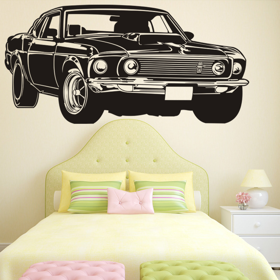 Classic Shelby GT Ford Mustang Muscle Racing Car Wall Decal Art Home ...