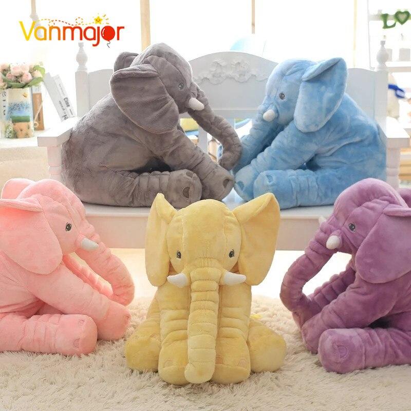 1 pz 40/60 cm Infantile Morbido Placare Elefante Compagno di Giochi La Calma Baby Doll Placare Giocattoli Elefante Cuscino Giocattoli di Peluche bambola di pezza