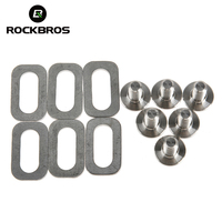 ROCKBROS Bicycle Accessories Titanium Ti Bolts Spacers For Road Bike Clipless Pedals Cleats Bike Self Locking