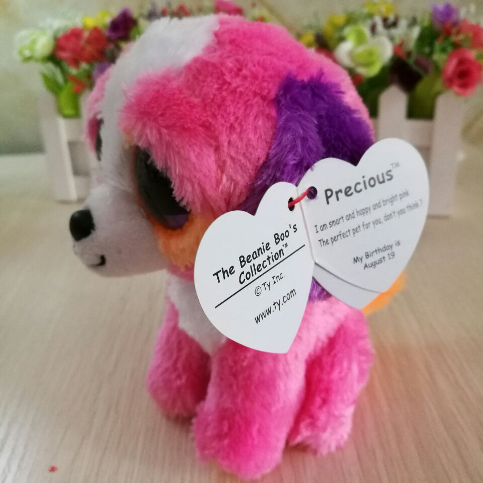TY BEANIE BOOS DOG precious dog with hang tag and 1pc 15CM BIG EYE PINK DOG  Plush Toys Stuffed animals KIDS TOY soft toys-in Stuffed   Plush Animals  from ... ff6f144d5b2