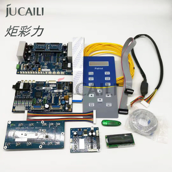 Jucaili 1 set Double head Hoson Board for xp600 dx5 dx7 5113 printhead printer board kit for flatbed Printer supports the Z axis