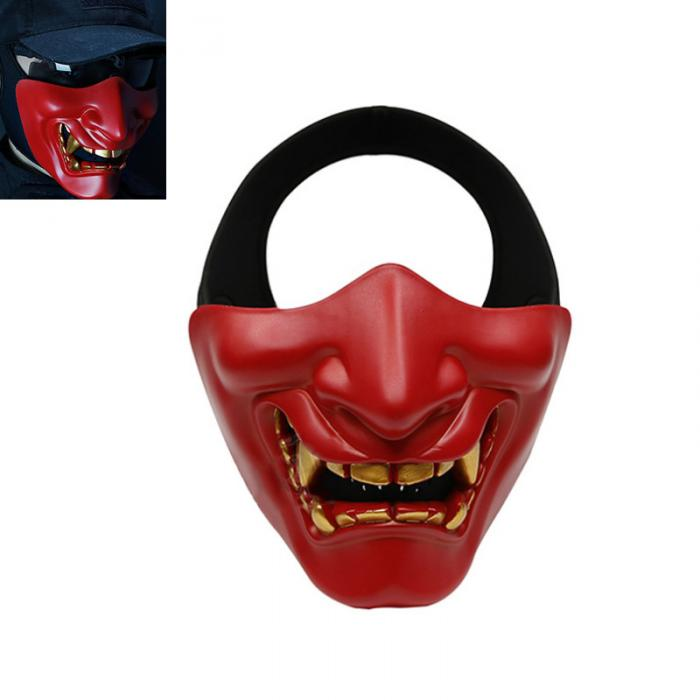 Halloween Horrible Scary Half Mask Lower Face Protective Cos braun st100