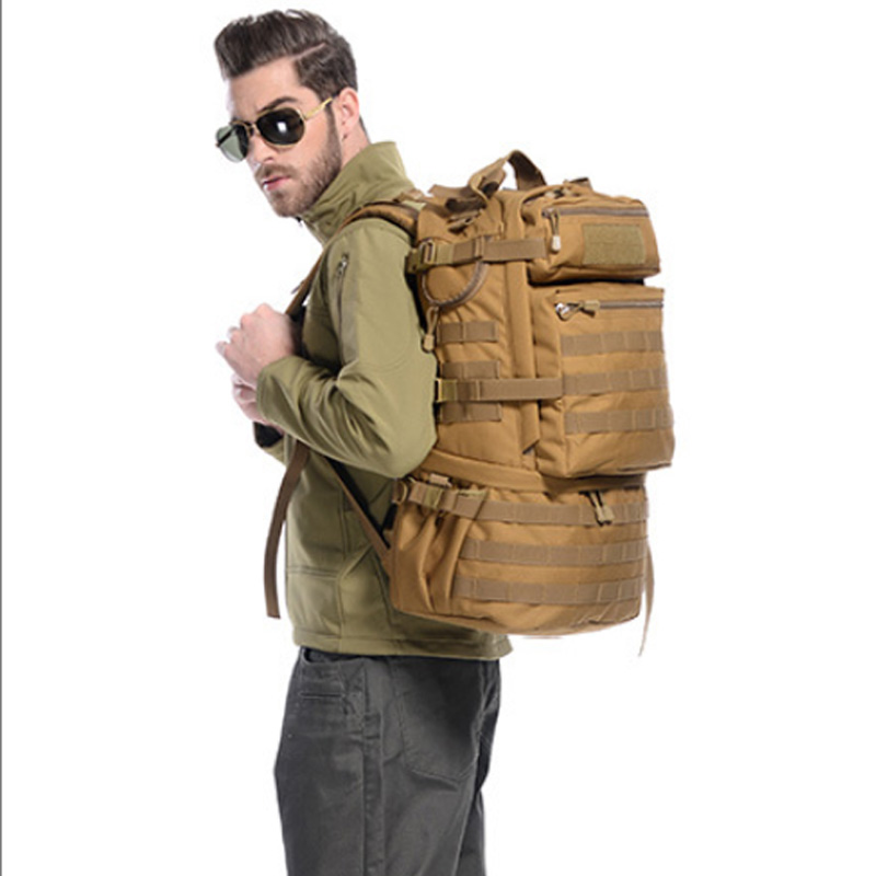 Hot 50L Molle High capacity Waterproof  Tactical Backpack  5
