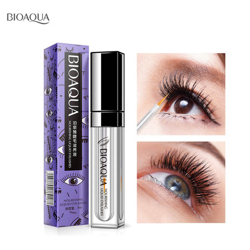 BIOAOUA Eyelash Growth Treatments Makeup Eyelash Enhancer Care Eyelash Enhancer 7 Days Longer Thicker Eyelashes Eyes Latisse