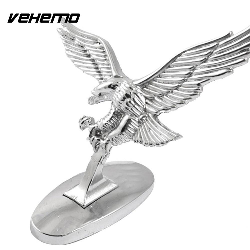 Vehemo Car Logo 3D Flying Eagle Creative Universal Car Decals Truck Head Motorcycle Auto ...