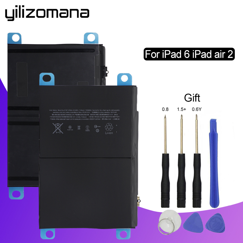 YILIZOMANA  2 A1567 A1566 For Replacement Battery 6 Tablet iPad Air Original 7340mAh 1