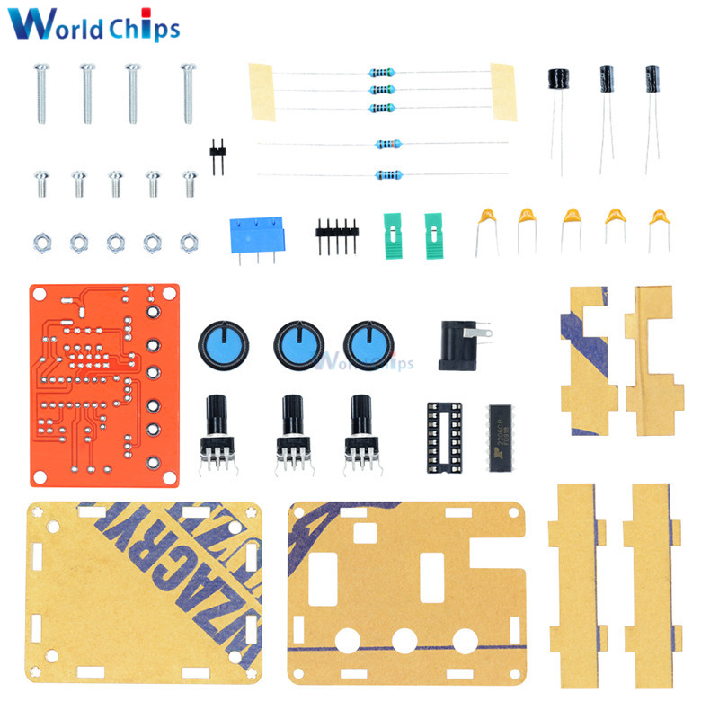 Zhongyu 5SETS XR2206 DIY Kit Sine Triangle Square Wave Output 1HZ-1MHZ DDS Function Signal Generator Adjustable Frequency Amplitude