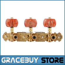 Alice AOS-020V2P Gold-Lmitated Classical Guitar Tuning Keys Gold-Plated Tuning Pegs Tuners Machine Head / Short