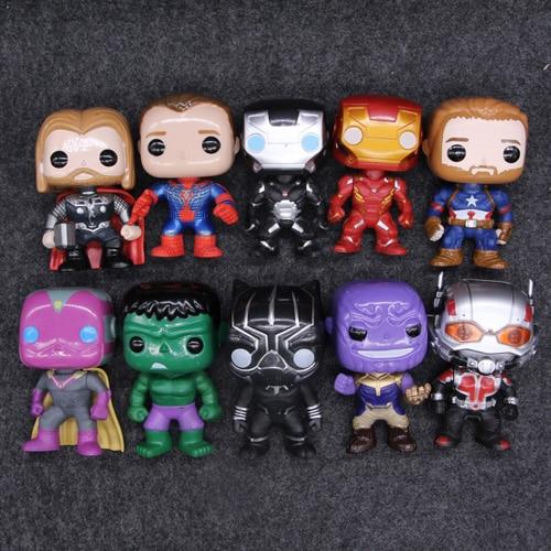 10 հատ / սահմանել DC Justice League & Marvel Avengers - Խաղային արձանիկներ - Լուսանկար 4