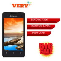 Lenovo A396 New Original WCDMA Cell Phone Android 2.3 OS Quad Core 1.2GHz Dual SIM 4.0 inch 2.0MP Camera WIFI Bluetooth
