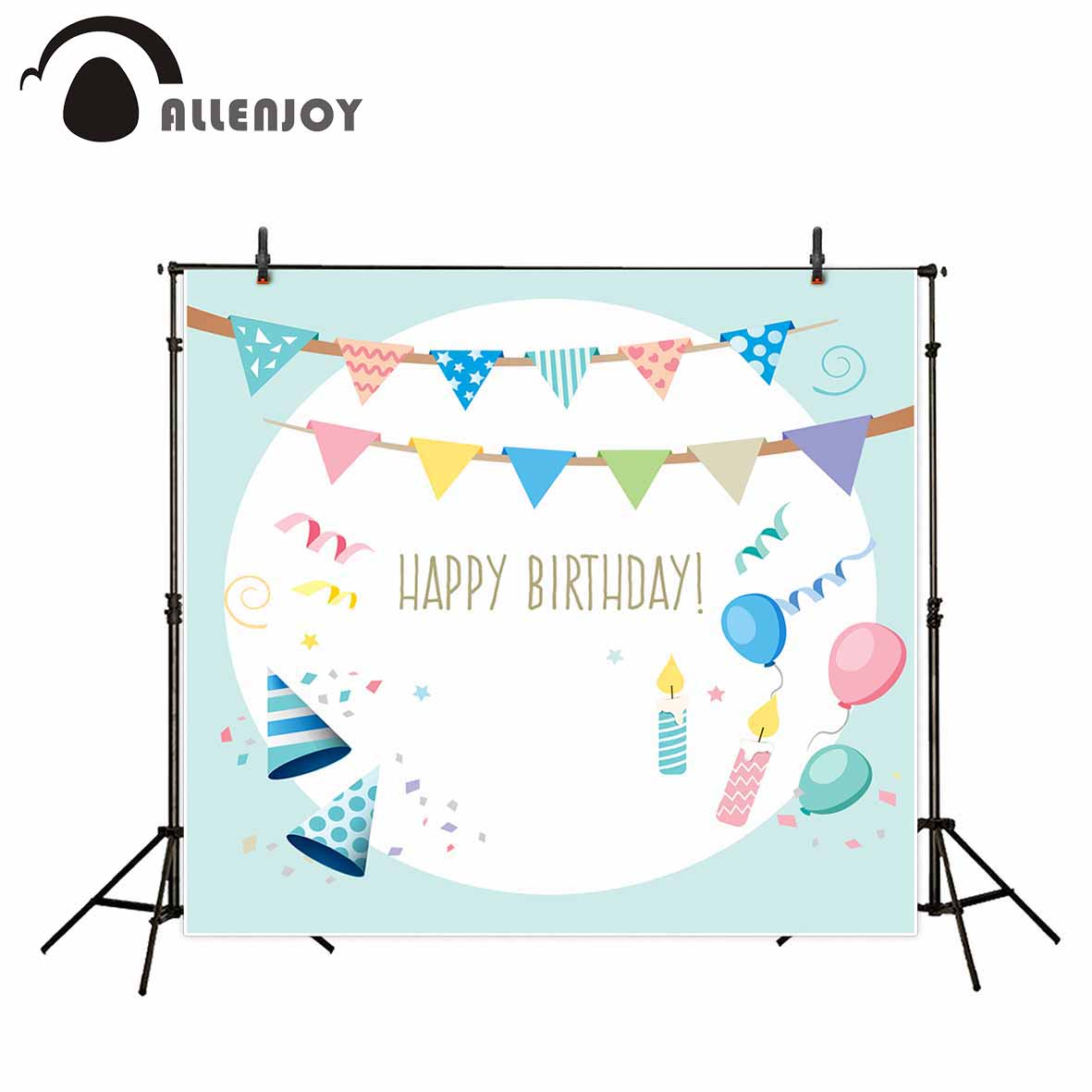 Allenjoy vinyl photographic background Blue boys balloon party birthday backdrop new arrivals photocall professional customize