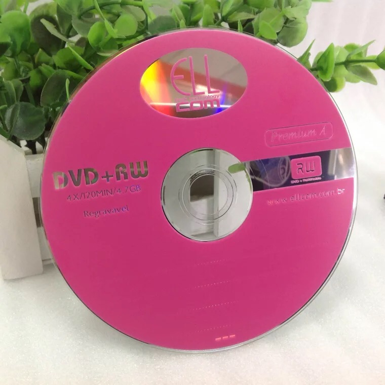 Wholesale 10 Discs 4x 4.7 GB Pink Printed DVD+RW Discs