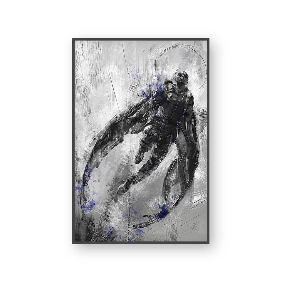 Настенный художественный холст с печатью постера, настенные картины для домашнего декора, Марвел, Мстители, фильм супергерой, Дэдпул, Железный Человек-паук, Локи - Цвет: L394S
