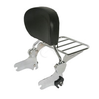 Chrome Black Backrest Sissy Bar & Luggage Rack For Harley Road King 97 08 FLHT FLHX Electra Street Glide Motorcycle Accessories