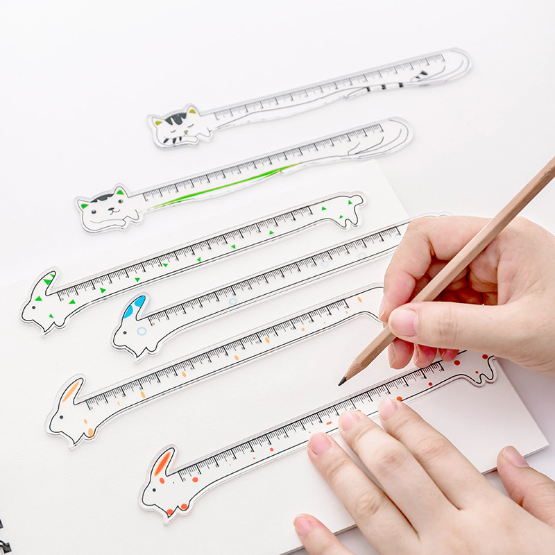 Coloffice Cartoon Animal Shape Ruler Student Studying Stationery Ruler Creative Stationery Children Ruler Office School Supplies