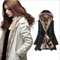 2016 Nova Moda Senhoras Inverno Longo Grosso Casaco Com Capuz Casaco Quente Super Interior Removível Forro Topcoat manteau femme LZ0016