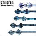 2017 New Design Crianças Bowtie Meninas Meninos Crianças Laços Nível superior de Algodão Tecido Bowties com Mantas de Moda para Festa fase