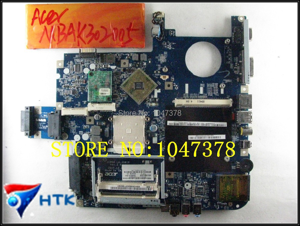 Wholesale MBAK302005 MB.AK302.005 Laptop Motherboard FOR ACER Aspire 5520 5520G 7520 7520G LA-3581P (ICW50) 100% Work Perfect