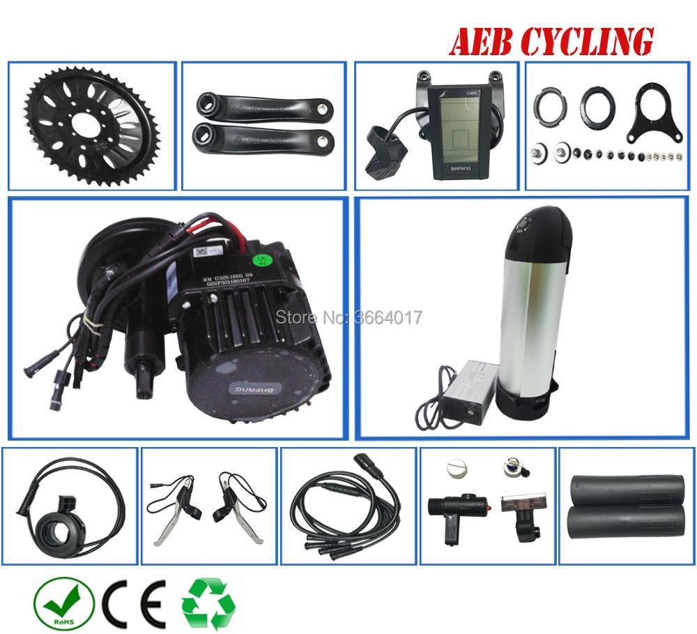 UE EUA frete grátis e impostos BBSHD Bafang 48 V 1000 W meados motor de acionamento kits + garrafa de tubo para baixo bateria de iões de Lítio de 48 V 14Ah