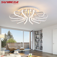 New Acrylic Modern Led Ceiling Lights For Living Room Plafon Led Home Lighting Dimming Ceiling Lamp