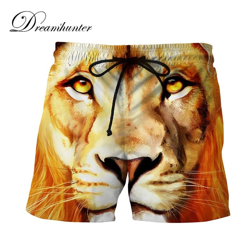 3D Printed Tiger   Board     Shorts   Men Summer Casual Breathable Beach Sea   Shorts   Compression   Short   Pants Men Praia