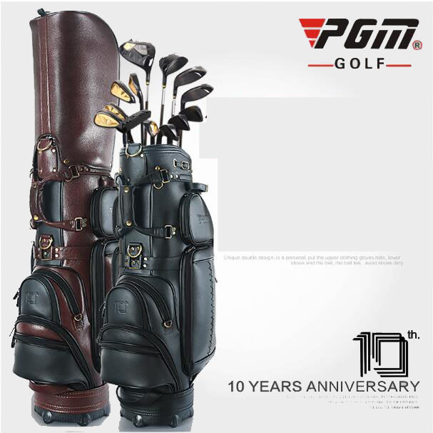 genuine leather golf bag male style high end personalized custom brand golf standard bag freeshipping