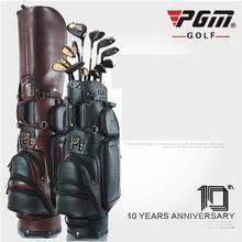 Натуральная кожа Гольф сумка мужской стиль высокого класса персонализированный пользовательский бренд Гольф стандартный мешок Бесплатная доставка