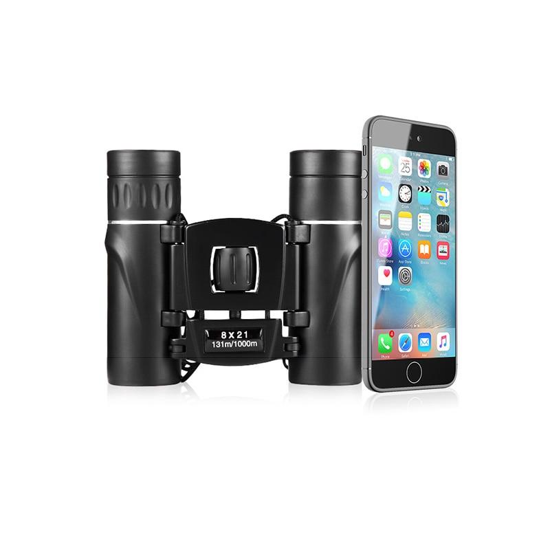 NANOO 8X21 HD Night Vision Mini Binoculars Telescope for Outdoor Sports Camping Hunting-in Monocular/Binoculars from Sports & Entertainment