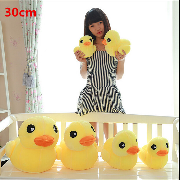 1pcs 12 30cm New Yellow Duck Toys For Children Plush Toys Cute Stuffed Animal Dolls Kids Toys Gifts new hot sale plush stuffed toys big yellow duck plush stuffed duck doll for children cotton soft free shipping