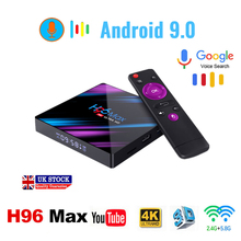 H96 MAX Android 9.0 smart TV Box 4G 64G RK3318 4 Core 2.4G/5G Wifi 4K HD Set Top H96max 32G 100M 3.0USB android box IPTV