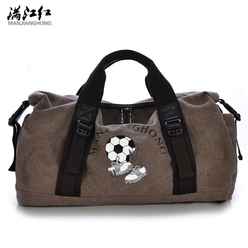 Manjianghong Men Travel Bags Canvas carrying bag male Luggage Bags Tote large capacity handbags men Duffel Bags Multifunction