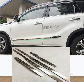 Voor Suzuki Vitara 2016 2017 2018 auto styling detector rvs Side Door Body trim sticks Strips Molding bumper deel 4 pcs