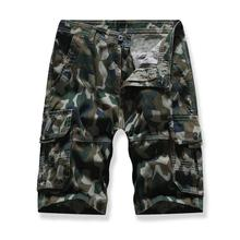Leisure Cargo Shorts Men Camouflage More pockets Multicolor Board for White khaki Army green