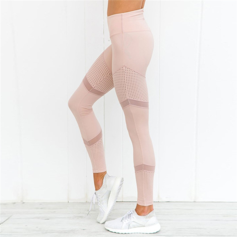 High Waist Mesh Slim Fitness   Leggings   Women Stitching Stretch Sexy Leggins Skinny Gothic Jeggings Push Up Women Workout   Leggings