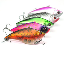 Lots of 5pcs 75mm 17g Hard Fishing Lures Vibration VIB Sinking Lipless Baits vibration of orthotropic rectangular plate