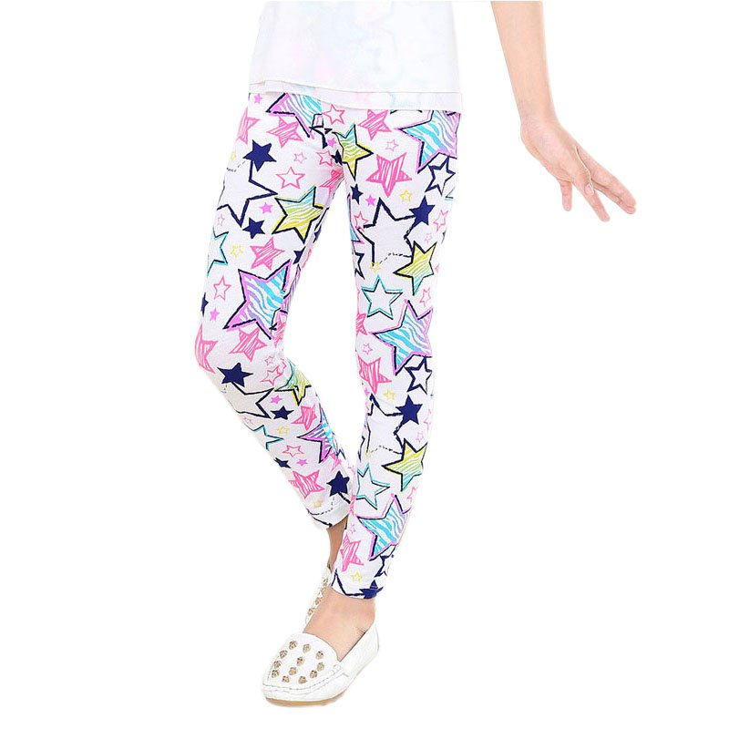 2-14 Years Baby Kids Girls Leggings Pants Flower Floral Printed Elastic Long Trousers Y13