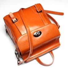 100% натуральная кожа женские рюкзак мешок школьная сумка рюкзак для подростков женские рюкзак Mochila Feminina