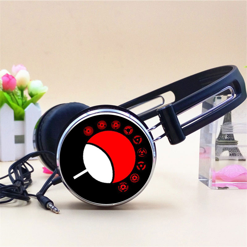 Custom Logo Anime Ichizoku Uchiha Clan Itachi Naruto Cosplay Headphone Adjustable Sport Headphone Gamer Headset Stereo Headphone in Headphone Headset from Consumer Electronics