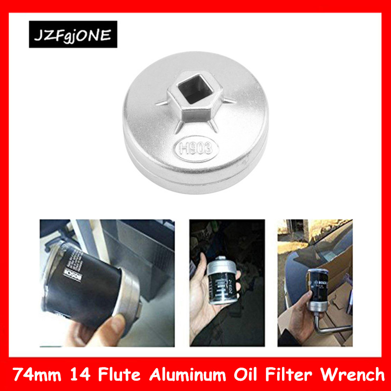 74mm 14 Flute Aluminum Oil Filter Removing Tool Wrench Socket Remover For BMW AUDI Benz Bora Golf FIAT Santana Passat Car Parts