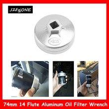 74 мм 14 флейта Алюминиевый Масляный фильтр инструмент для удаления гаечного ключа для BMW AUDI Benz Bora Golf FIAT Santana Passat автозапчасти
