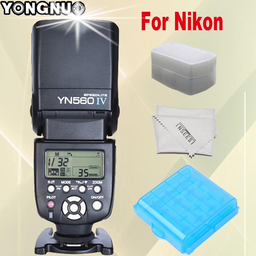 YONGNUO YN560IV YN560 IV YN-560 IV Speedlite For Nikon d90 d7100 d7000 d5300 d3100 d5100 d750 d7200 d3200 Camera Wireless Flash профессиональная цифровая slr камера nikon d3200 18 55mmvr