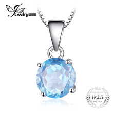 JewelryPalace Stone Sky Blue Romantic Genuine 925 Sterling Silver Pendant For Women Not Include a Chain