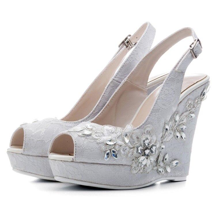 Coins Fleurs Hauts Mode Boucle Dentelle Summer À Pictures Talons Party Chaussures As Femmes Sandales Cristal Plate forme Sangles SBx5nH0nW