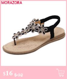 HTB1znIFF9BYBeNjy0Feq6znmFXaJ MORAZORA Plus size 34-46 New genuine leather sandals women shoes fashion flat sandals cow leather summer rhinestone ladies shoes