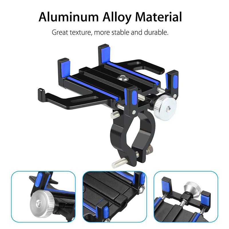 Aluminum Alloy MTB Motorcycle Bicycle Bike Handlebar Mount Cell Phone Holder Universal Bike Phone GPS Mount Handlebar Clip Stand