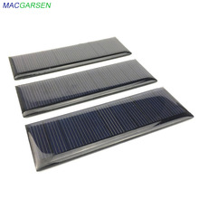 MACGARSEN 1pcs Epoxy Solar Panel 5.V 65mA Polycrystalline solar cell 90*30mm Cell Phone Battery Power Photovoltaic Solar Panel mbr cell power foot