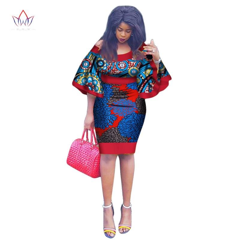 2019 New African tenue de fête D'été Brésil Maxi grande taille O-cou Dashiki Imprimer robe vintage pour Femmes Robe Curto 7xl WY1991